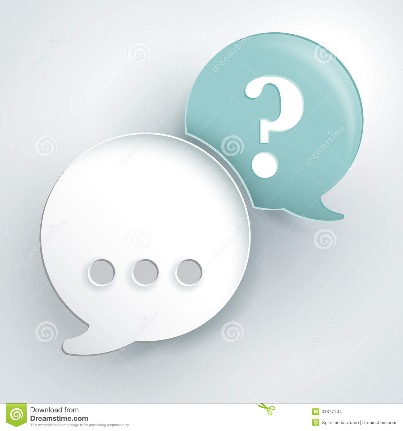 Abstract background about speech concept. Answer and question bubbles.