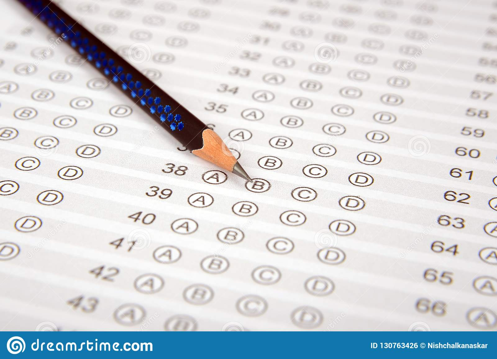 Answer Sheet For Competitive Exam, Entrance Exam Or Options