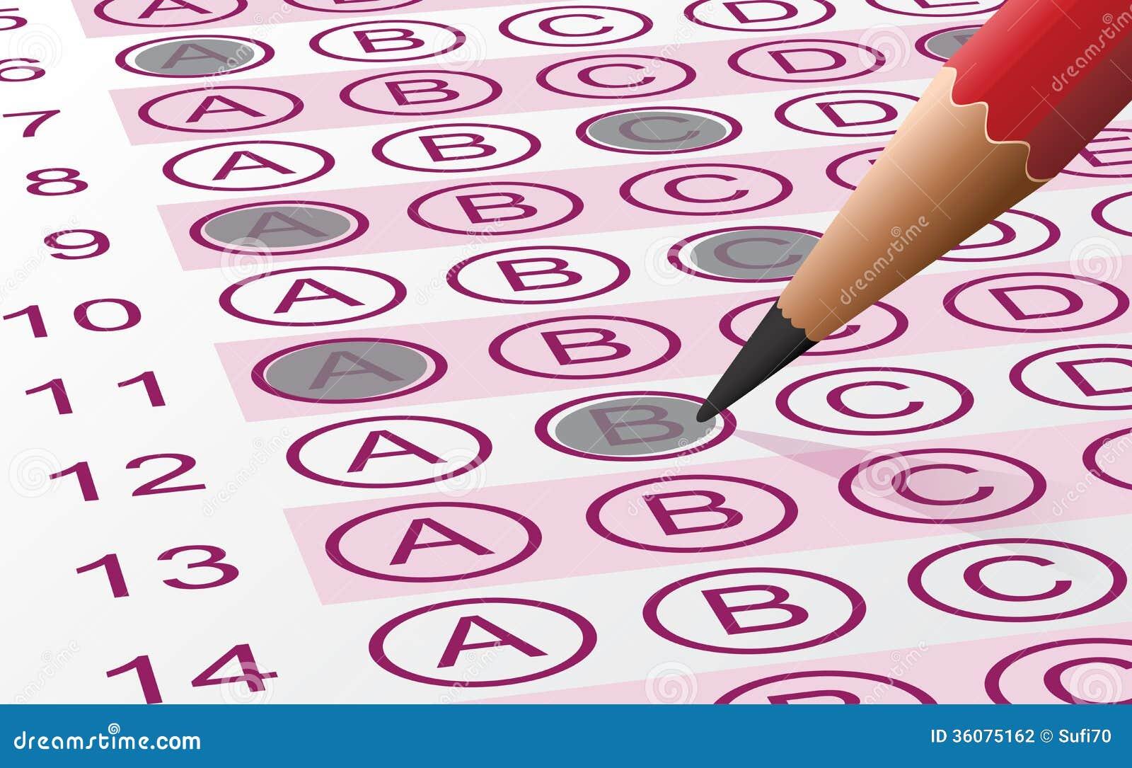 Answer Sheet stock vector. Illustration of design, paper ...