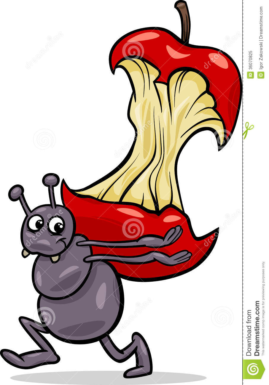 ant with apple core cartoon illustration royalty free free apple clipart png free apple clipart images