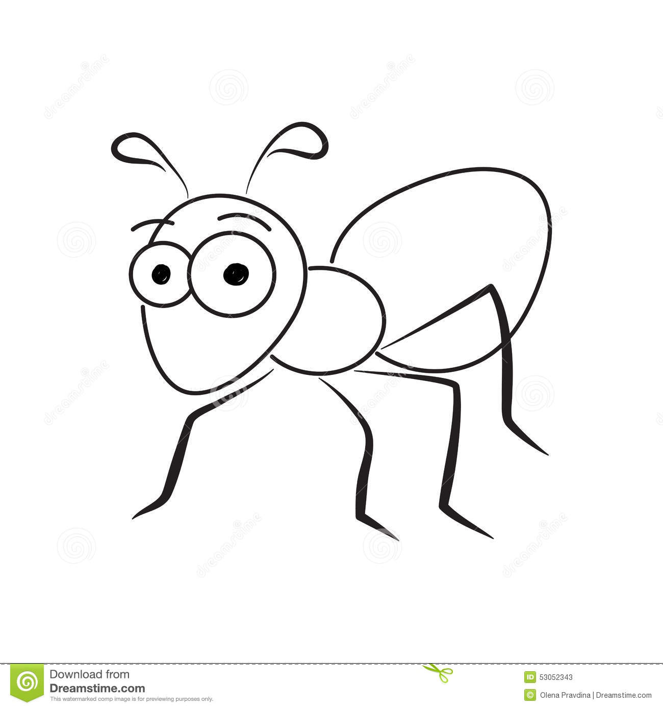 ant stock vector image 53052343