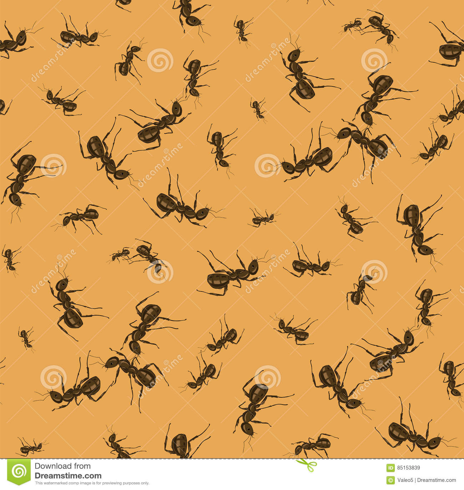 Ant Seamless Pattern