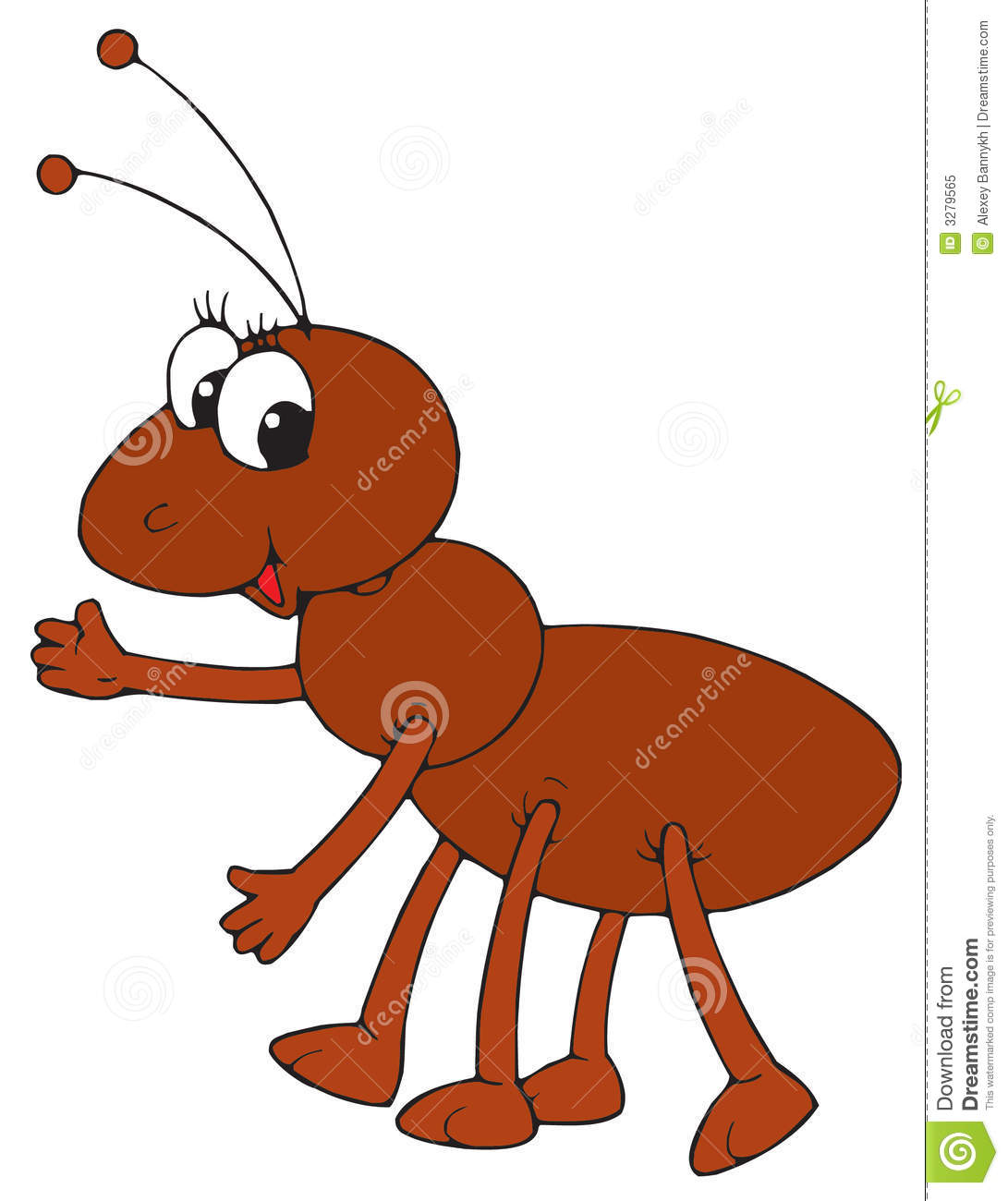 ant vector clip art stock vector illustration of comics 3279565 rh dreamstime com ant clipart png ant clipart free