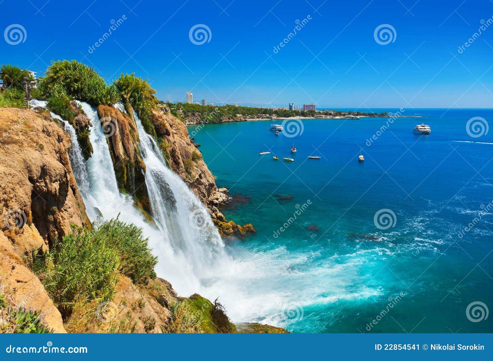 Antalya duden火鸡瀑布