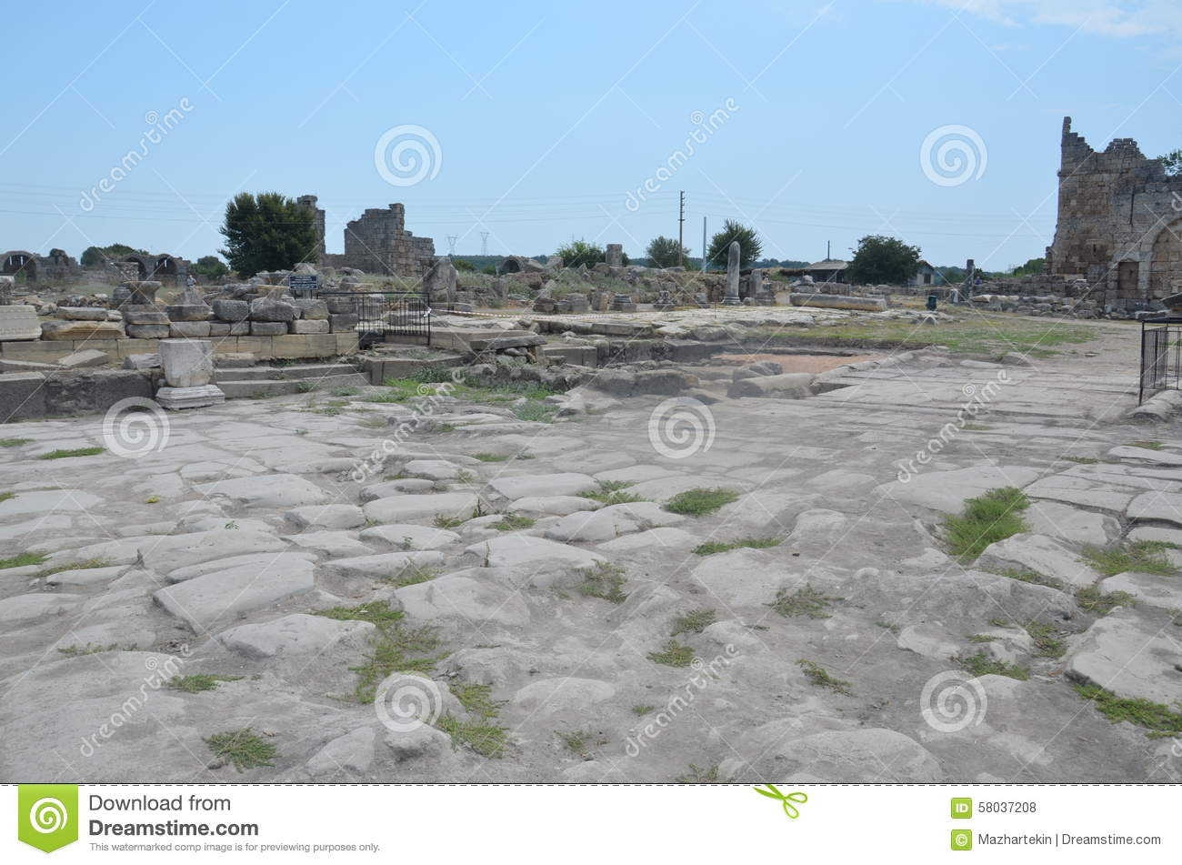 Antalya Perge Ancient City, The Agora, The Ancient Roman ...