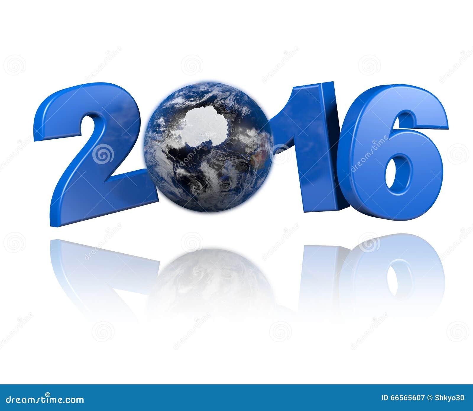 Antarctica centered Earth view 2016 design