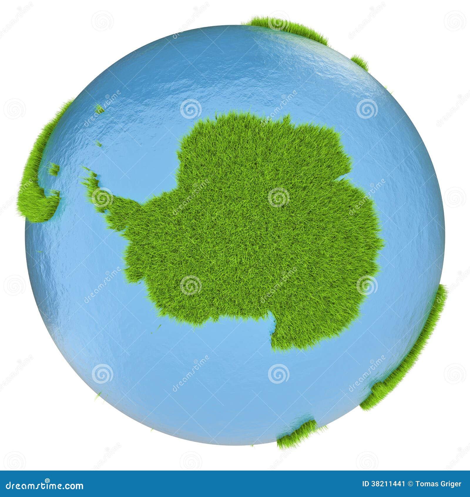 Antarctica on green planet