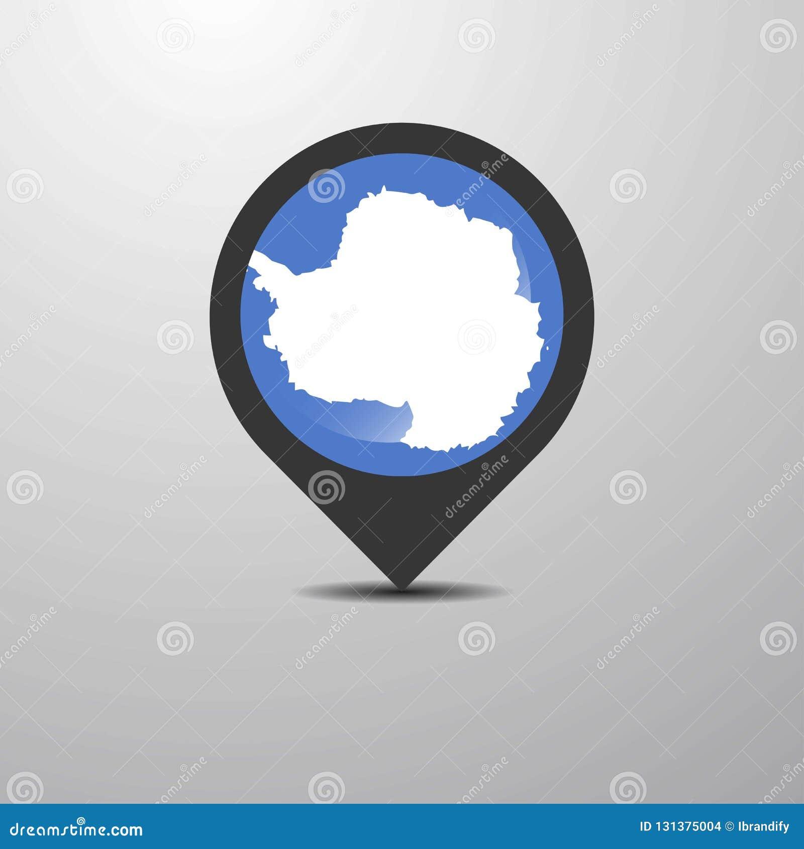 Antarctica Map Pin