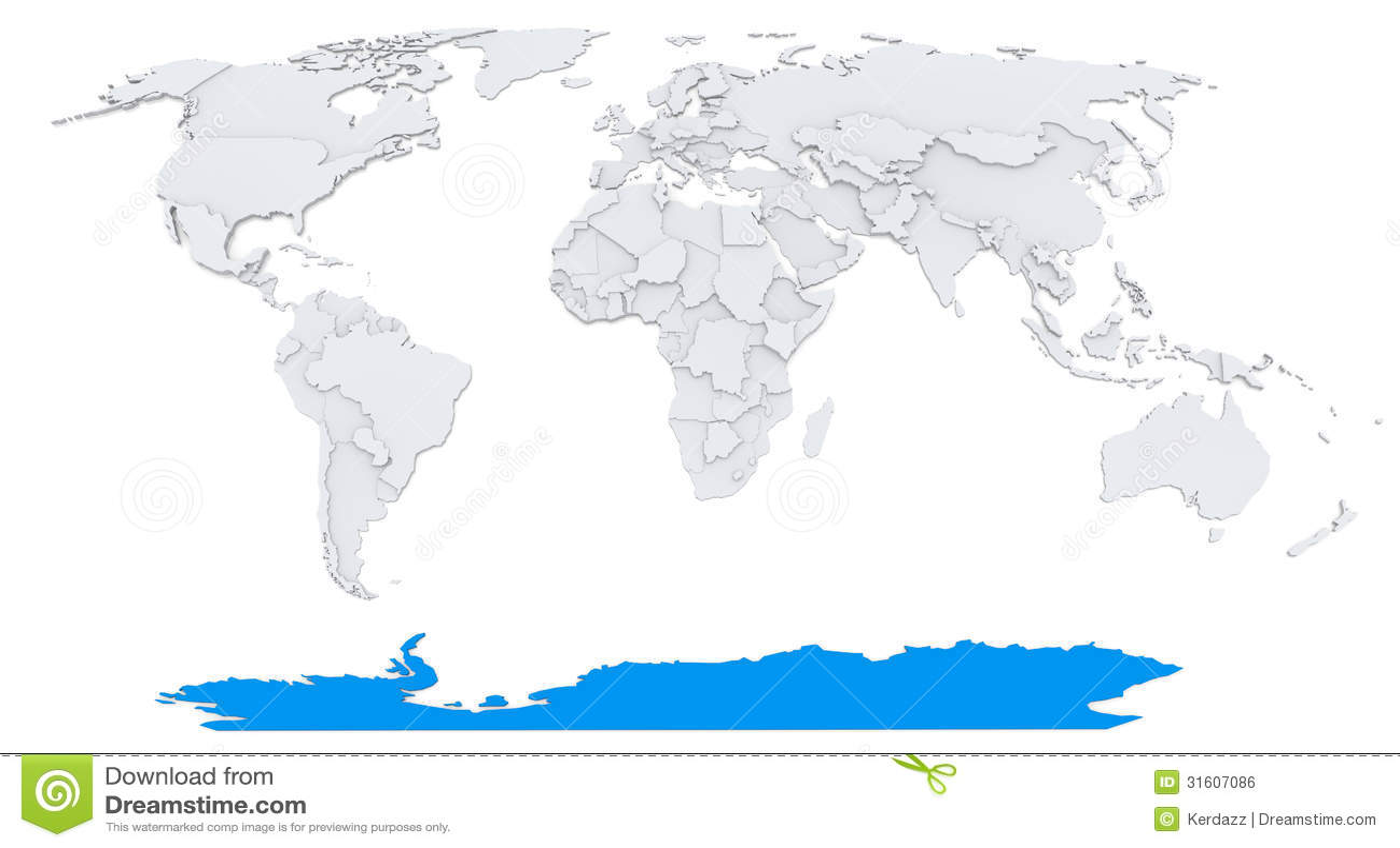 World Map With Antarctica
