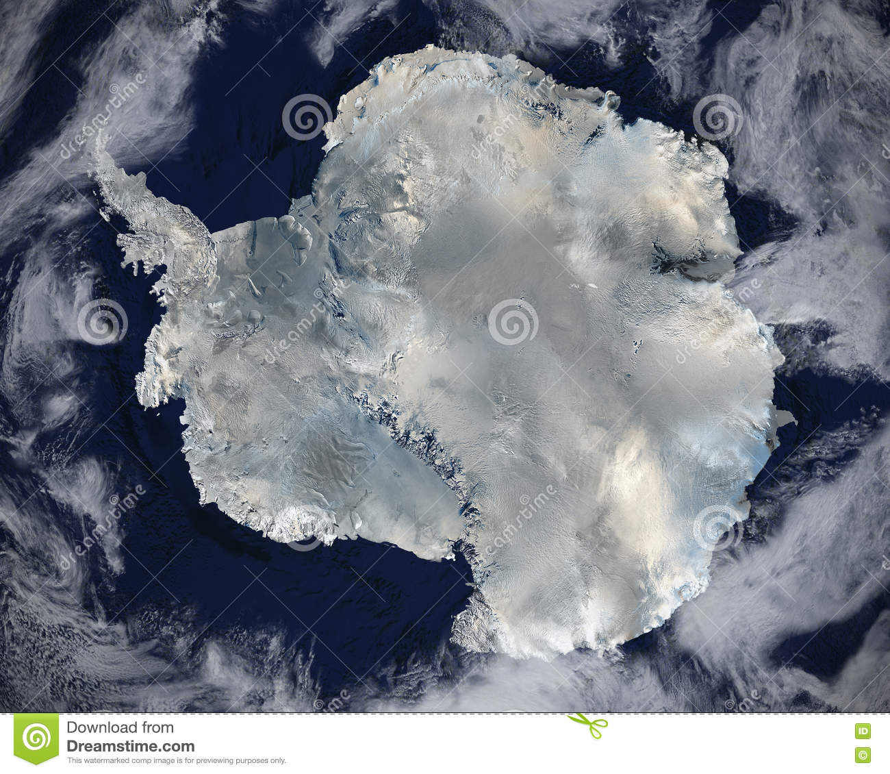 Antarctica From Space Stock Illustration Image - Satellite map of antarctica