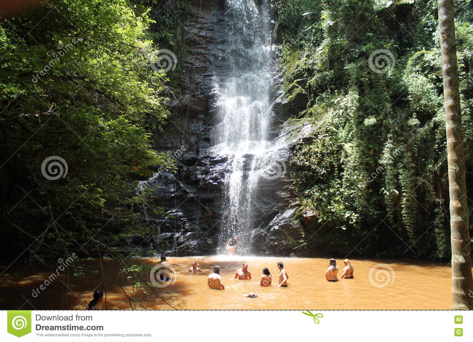 Antares-Wasserfall in São Thomé DAS Letras, Minas Gerais - Brasilien