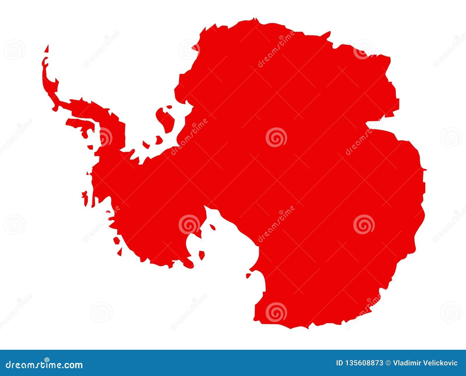 Antarktis översikt - jords sydligast kontinent