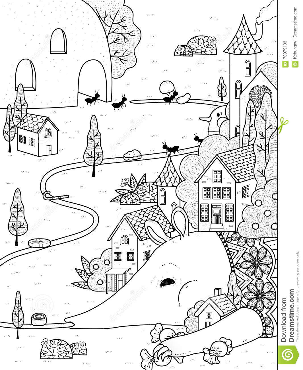 Uncategorized Anteater Coloring Page anteater adult coloring page stock illustration image 70979103 royalty free download page