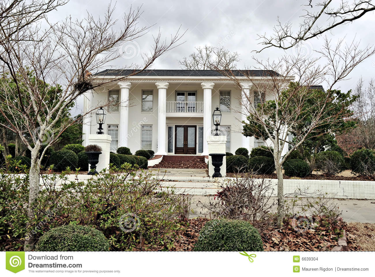 Antebellum Mansion Southern Architecture Stock Photo