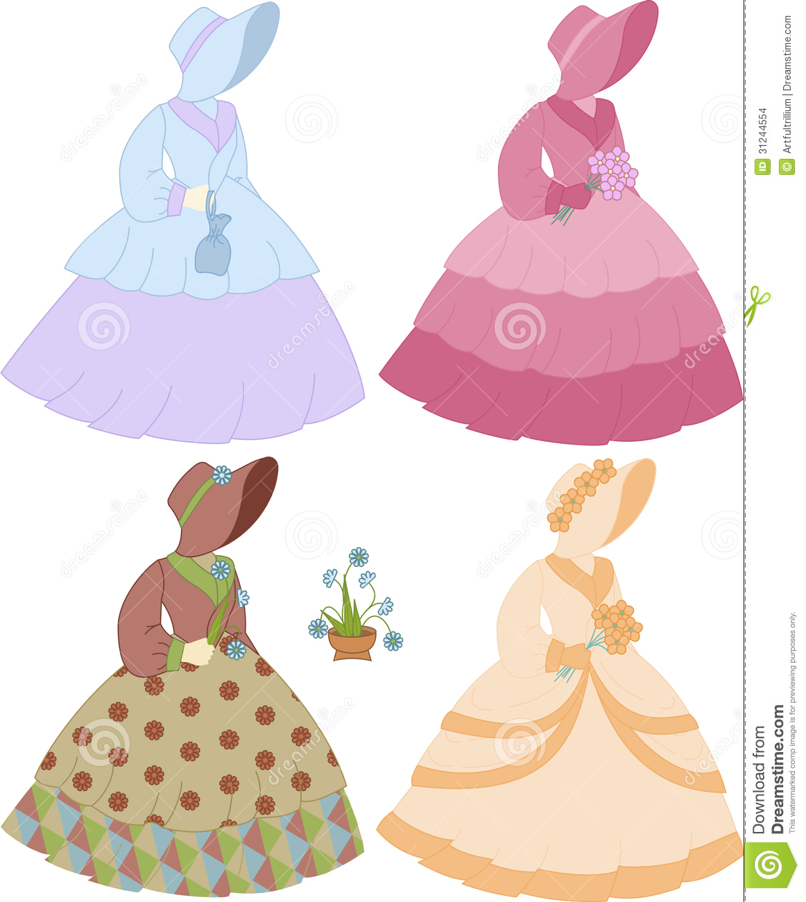 Antebellum Southern Belle Set Stock Images Image 31244554