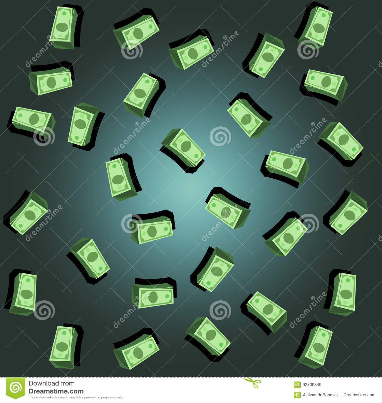 Antecedentes del dinero Fondo de la lluvia del dólar
