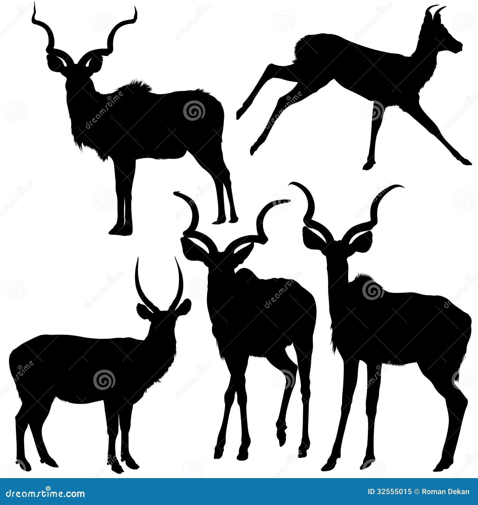 antelope silhouettes royalty free stock photo image 32555015