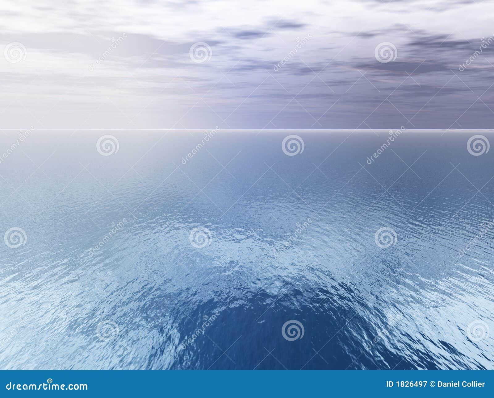 Antena chmury nad widokiem na morze