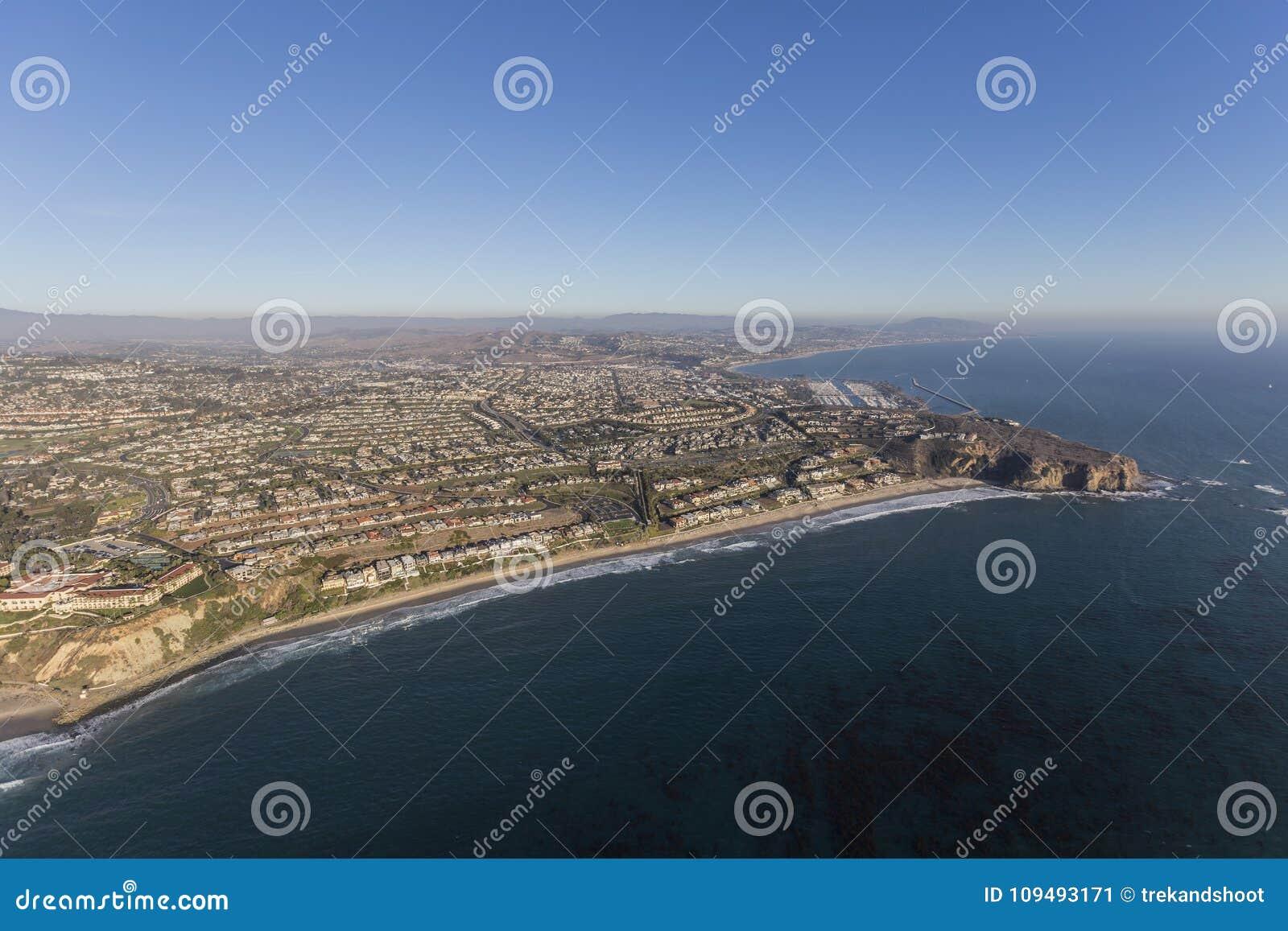 Antena da costa de Dana Point Orange County California