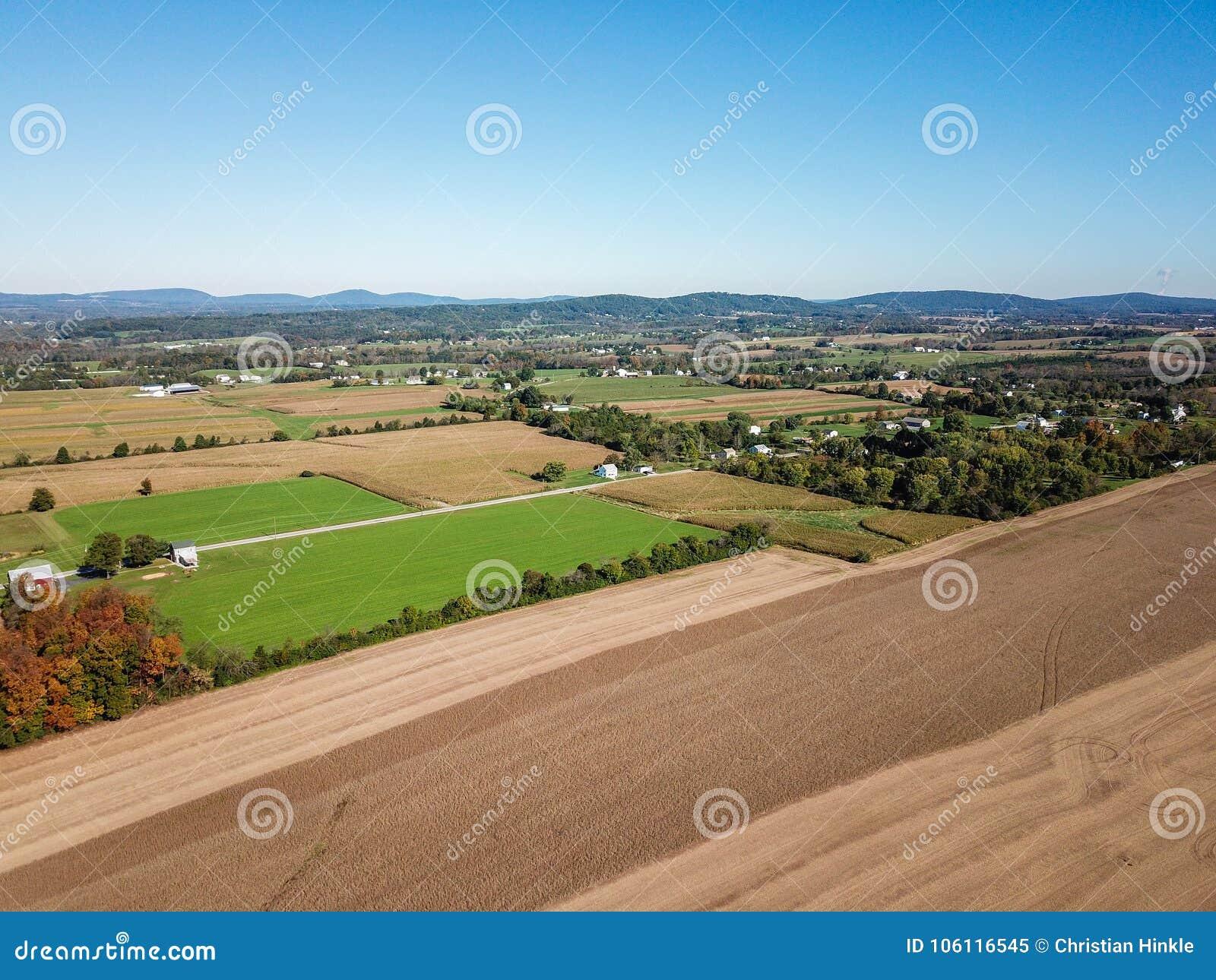 Antena da terra em Dôvar, Pensilvânia apenas ao sul de Harrisbu