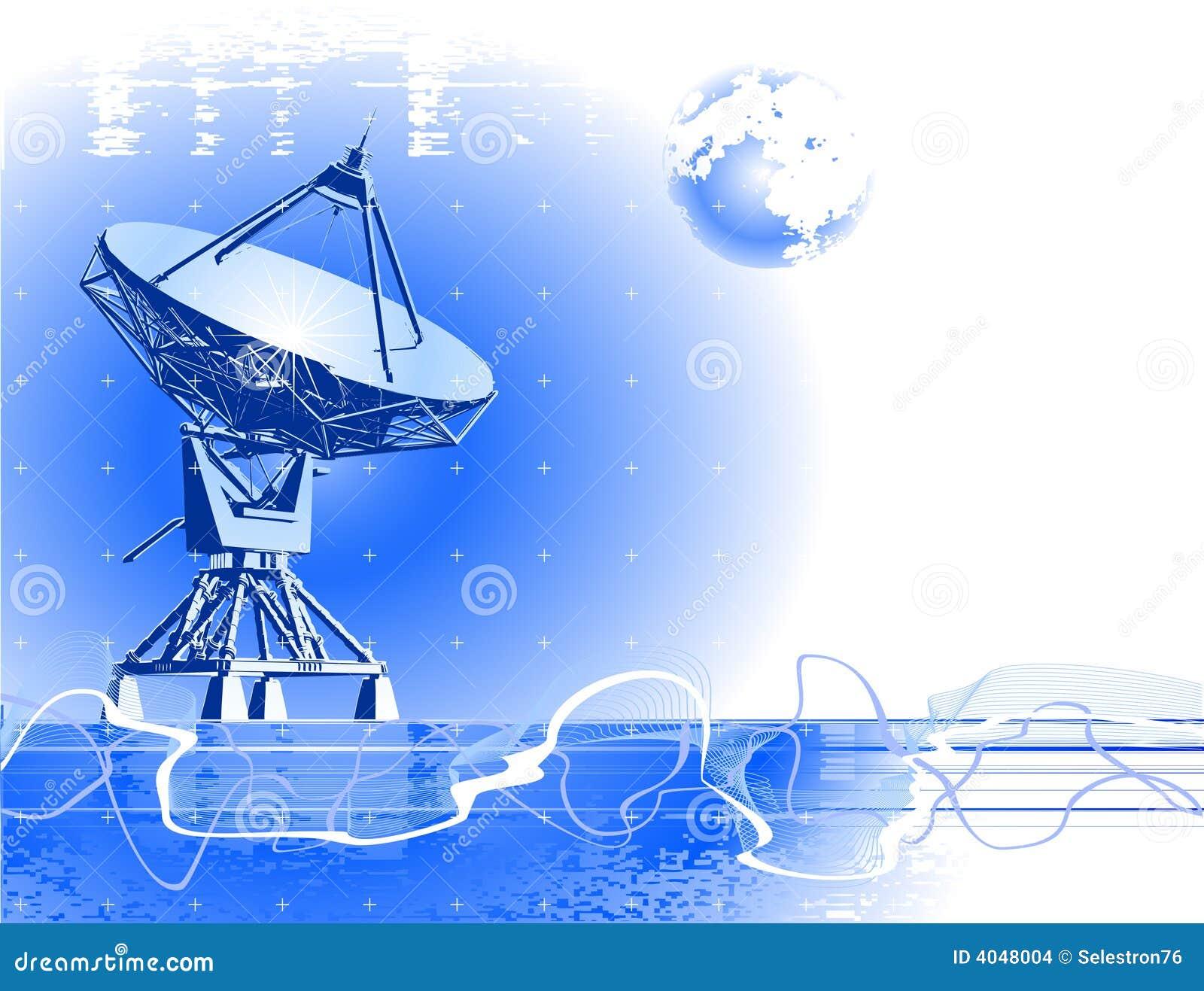 Antena de pratos satélites