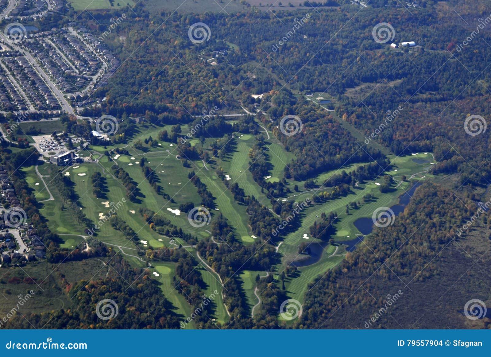Antena del campo de golf de Barrie