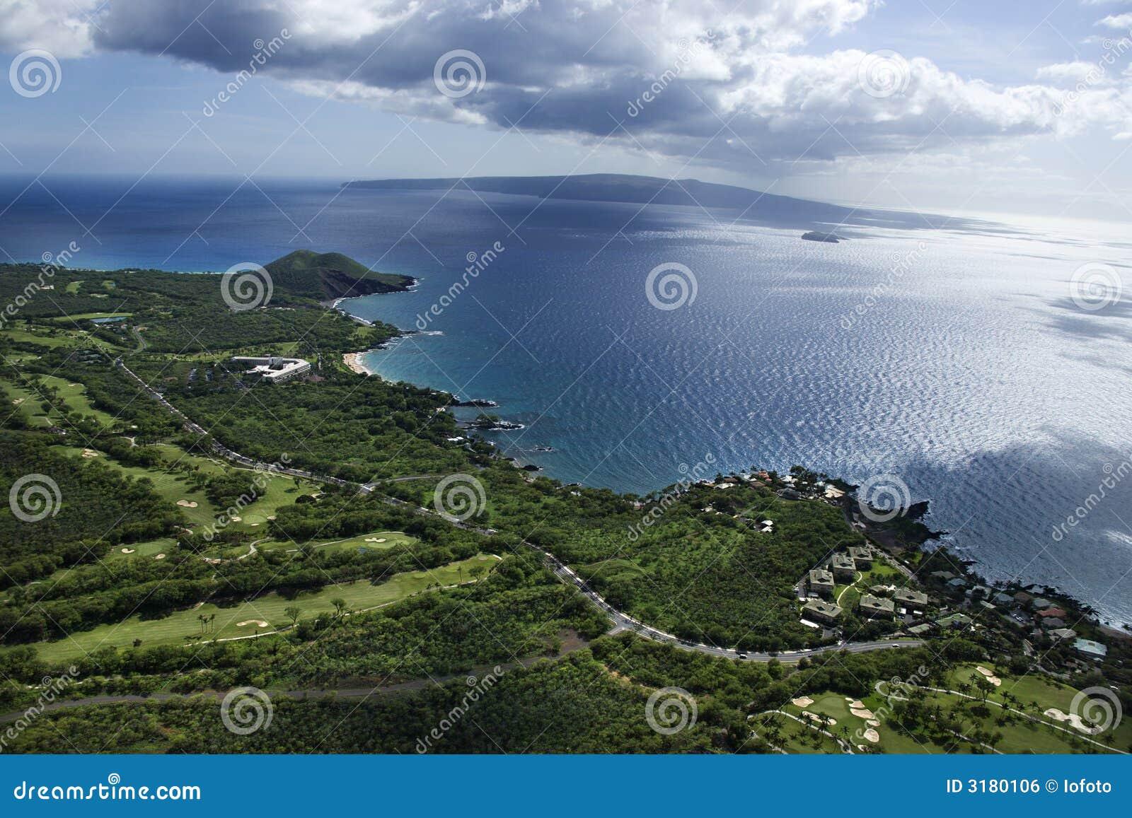 Antena do litoral de Maui.