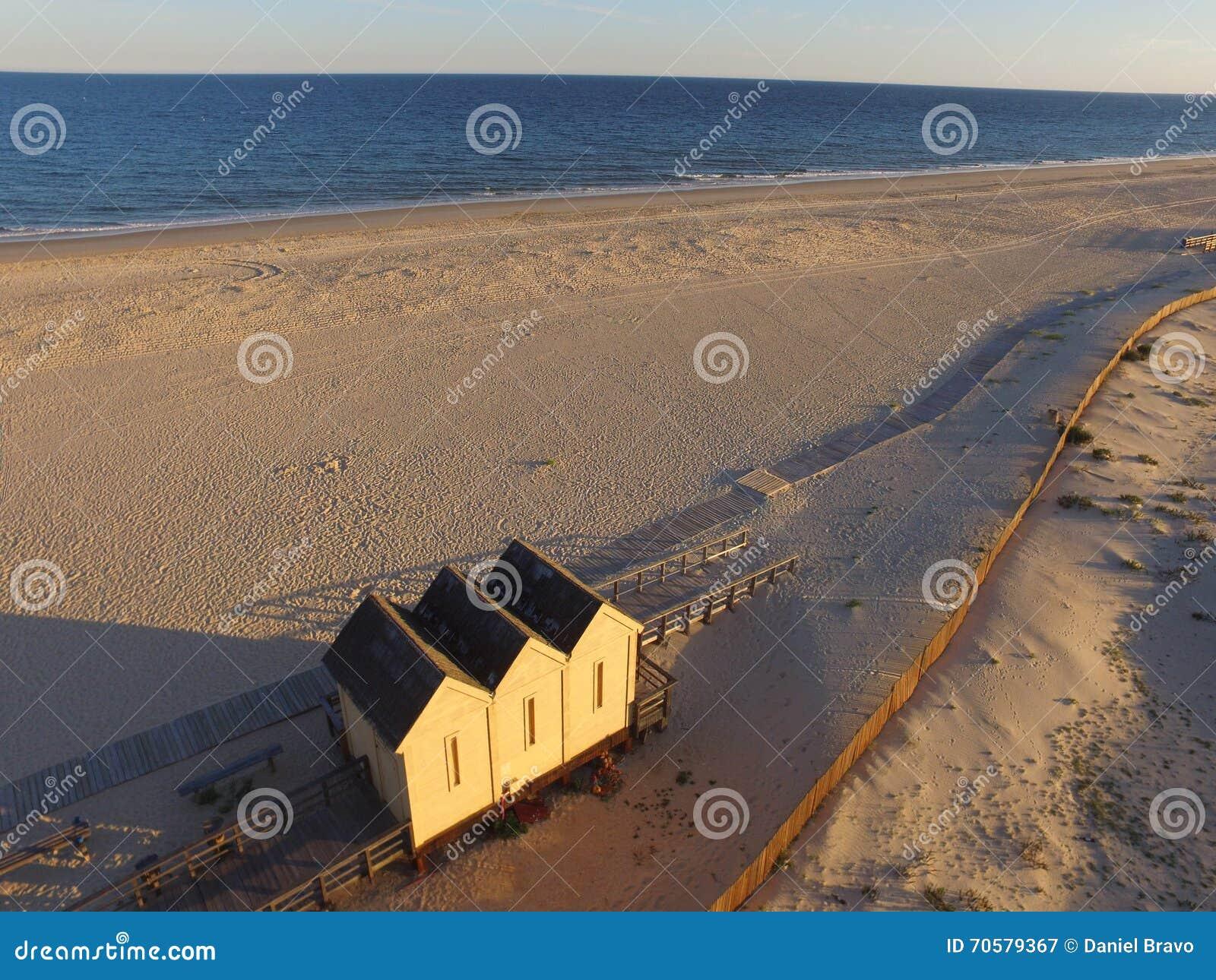 Antena wzrok na plaży