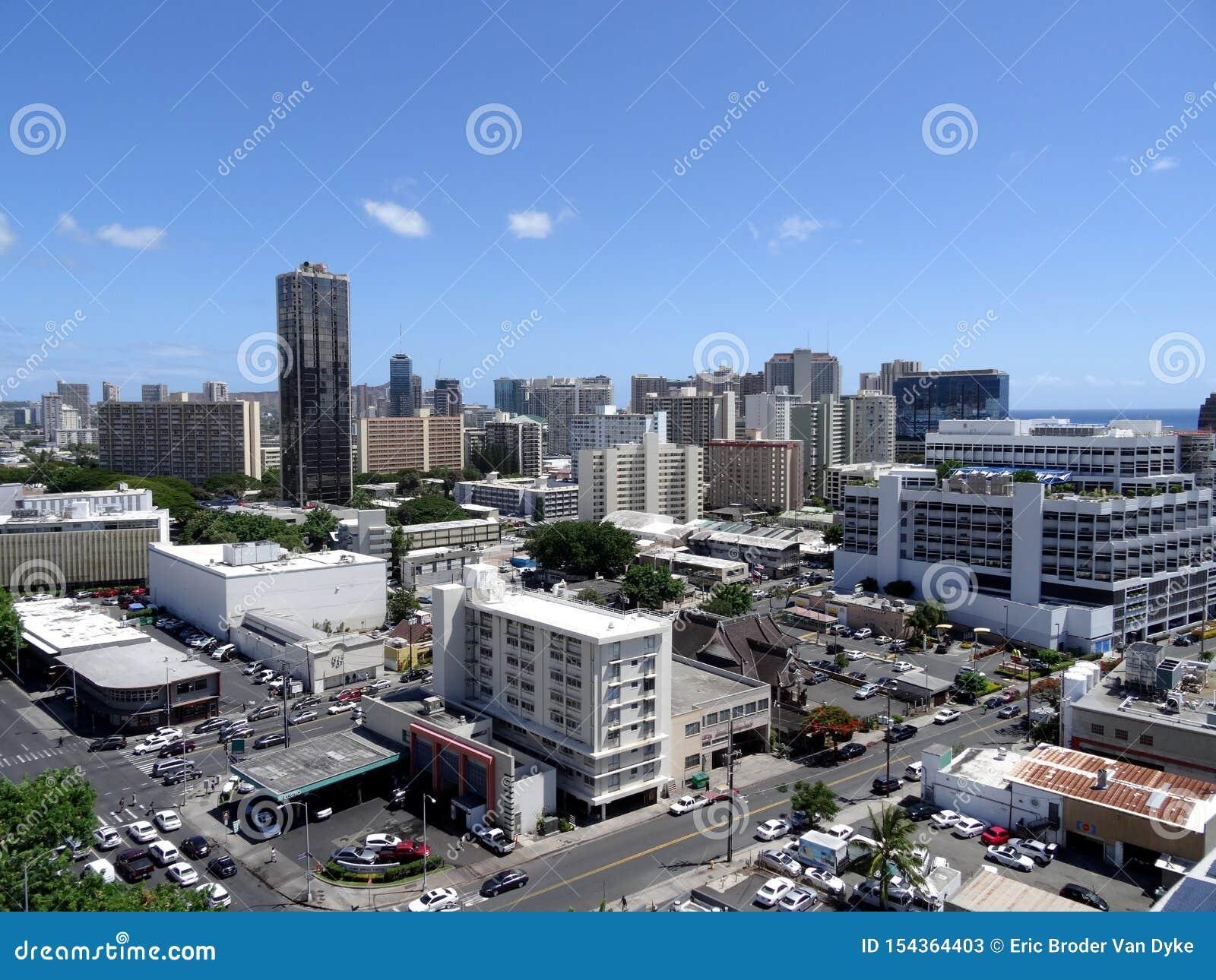 Antenn av Honolulu alunMoana omr?de
