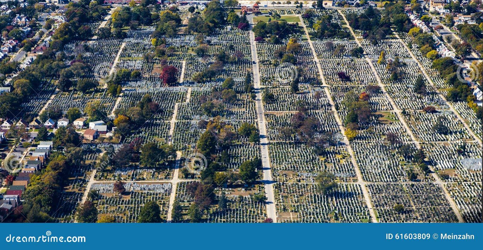 antenna del cimitero e della citt di rockville a new york