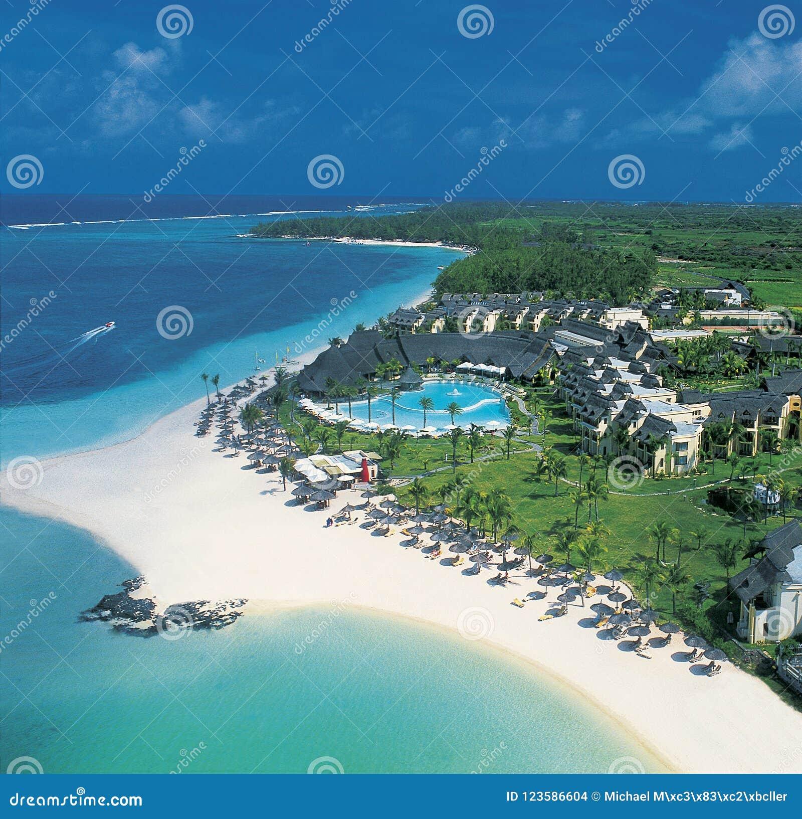 Antenna dell hotel del damerino-Rivage su Mauritius Island