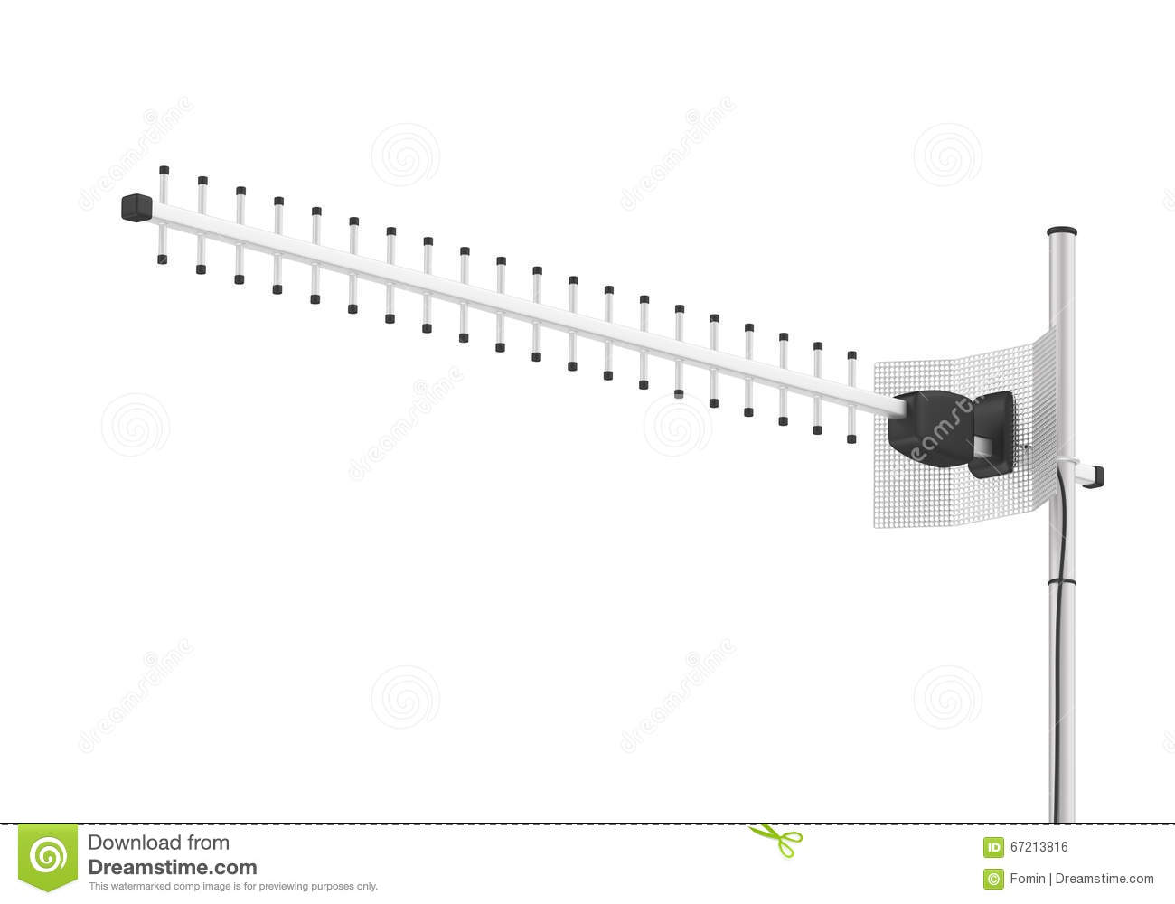 Antenna For Internet Connection Stock Illustration