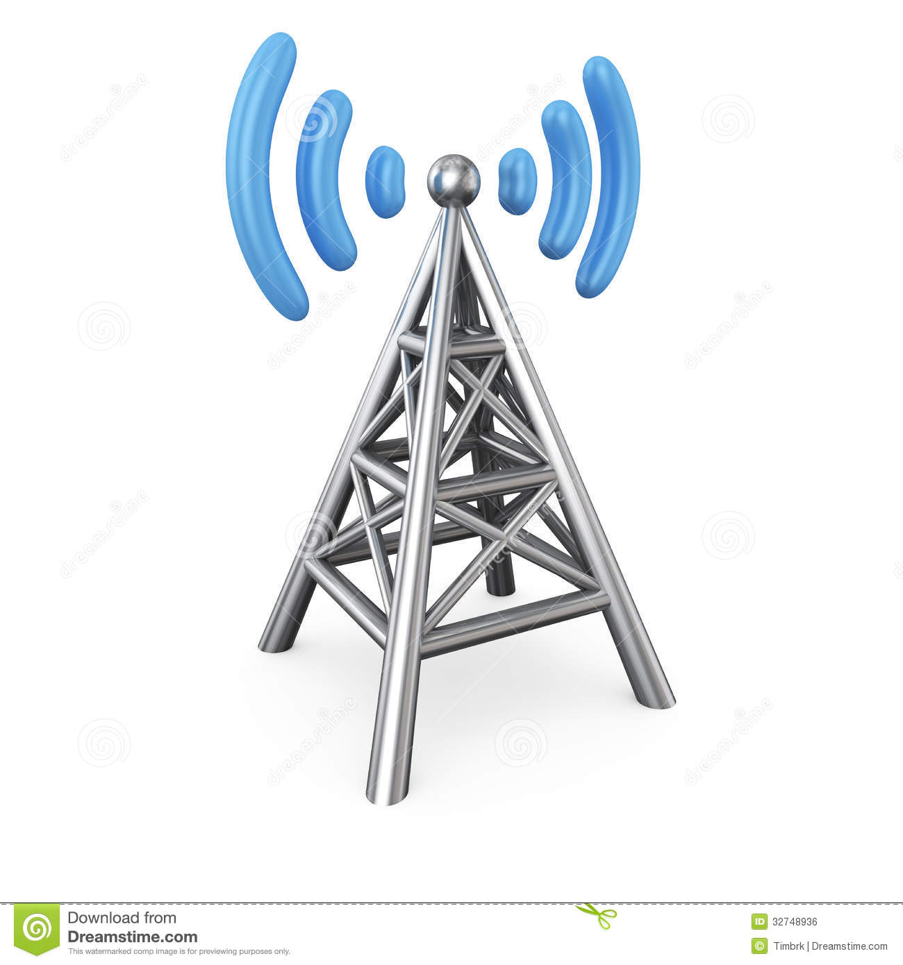 Royalty Free Stock Image Antenna Metal Symbol Isolated White Image32748936 on tower radio network