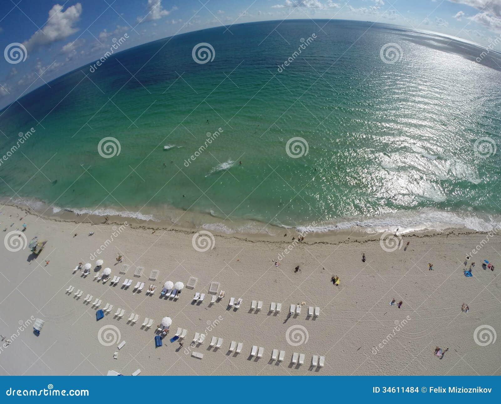 Antenne over het strand