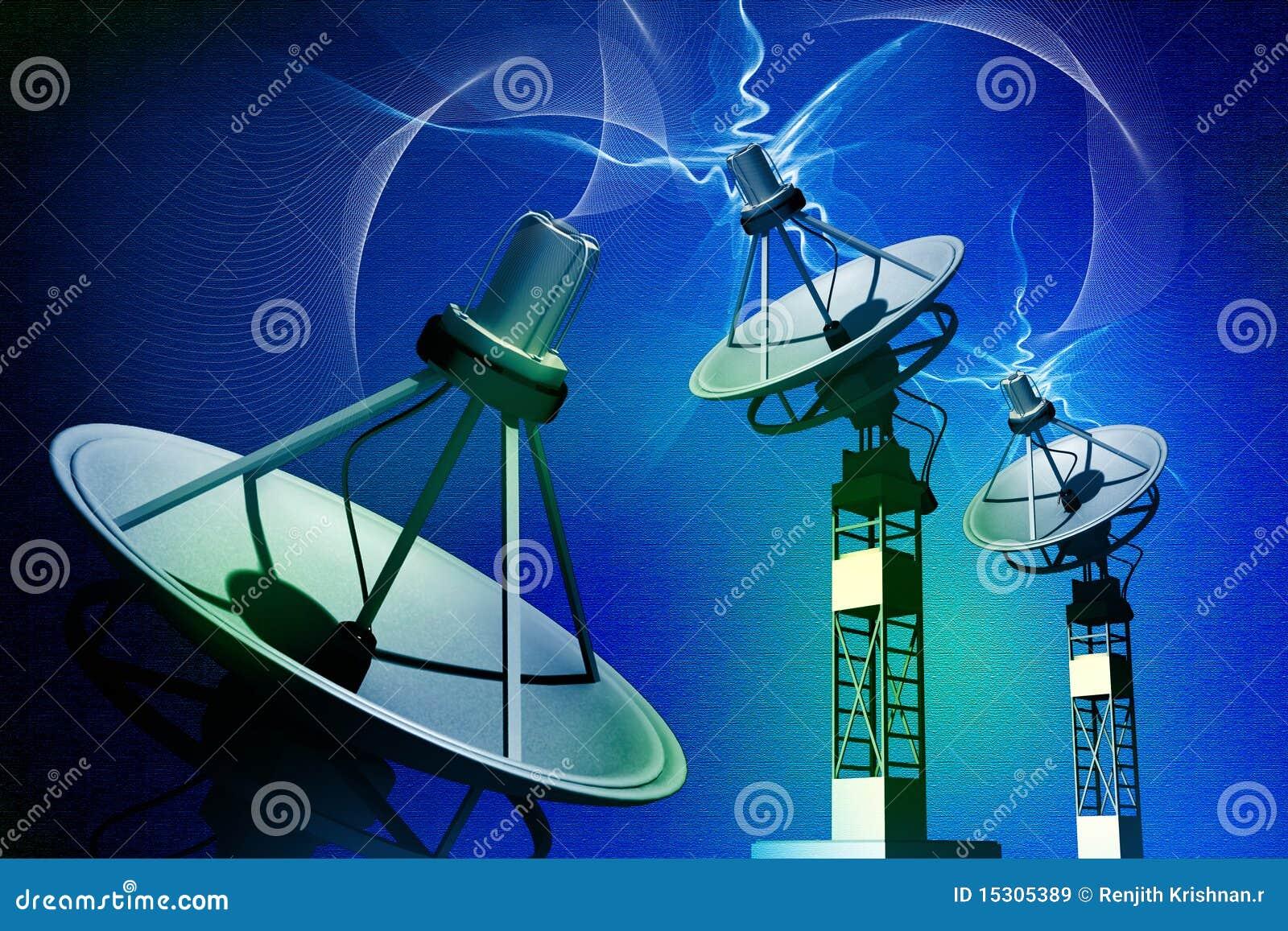 antenne parabolique illustration stock illustration du r seau 15305389. Black Bedroom Furniture Sets. Home Design Ideas