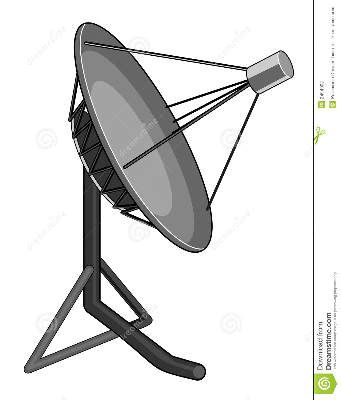 Antenne parabolique photographie stock image 2494002 - Orientation antenne tv ...