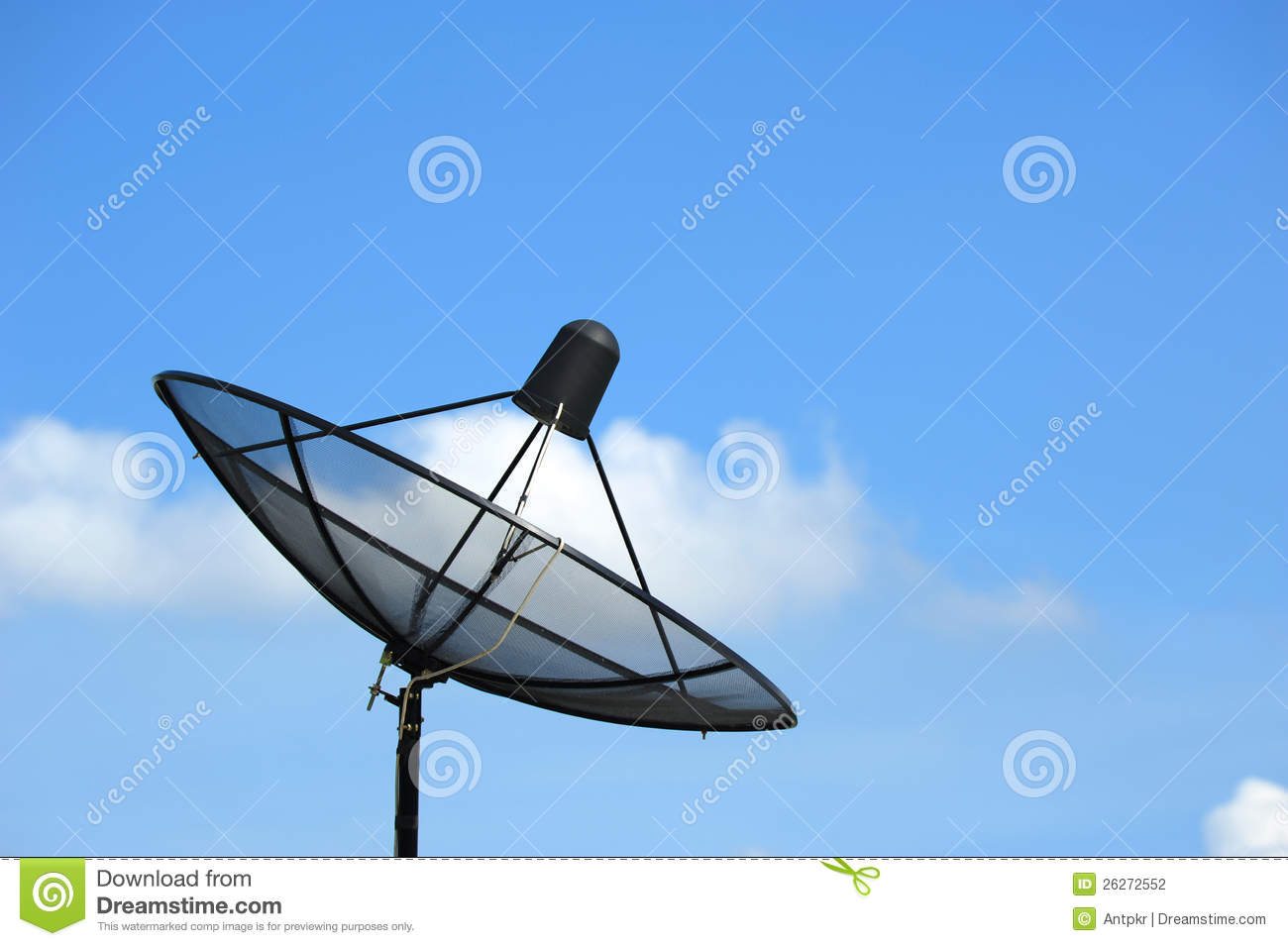 antenne parabolique photo stock. image du satellite, antenne - 26272552