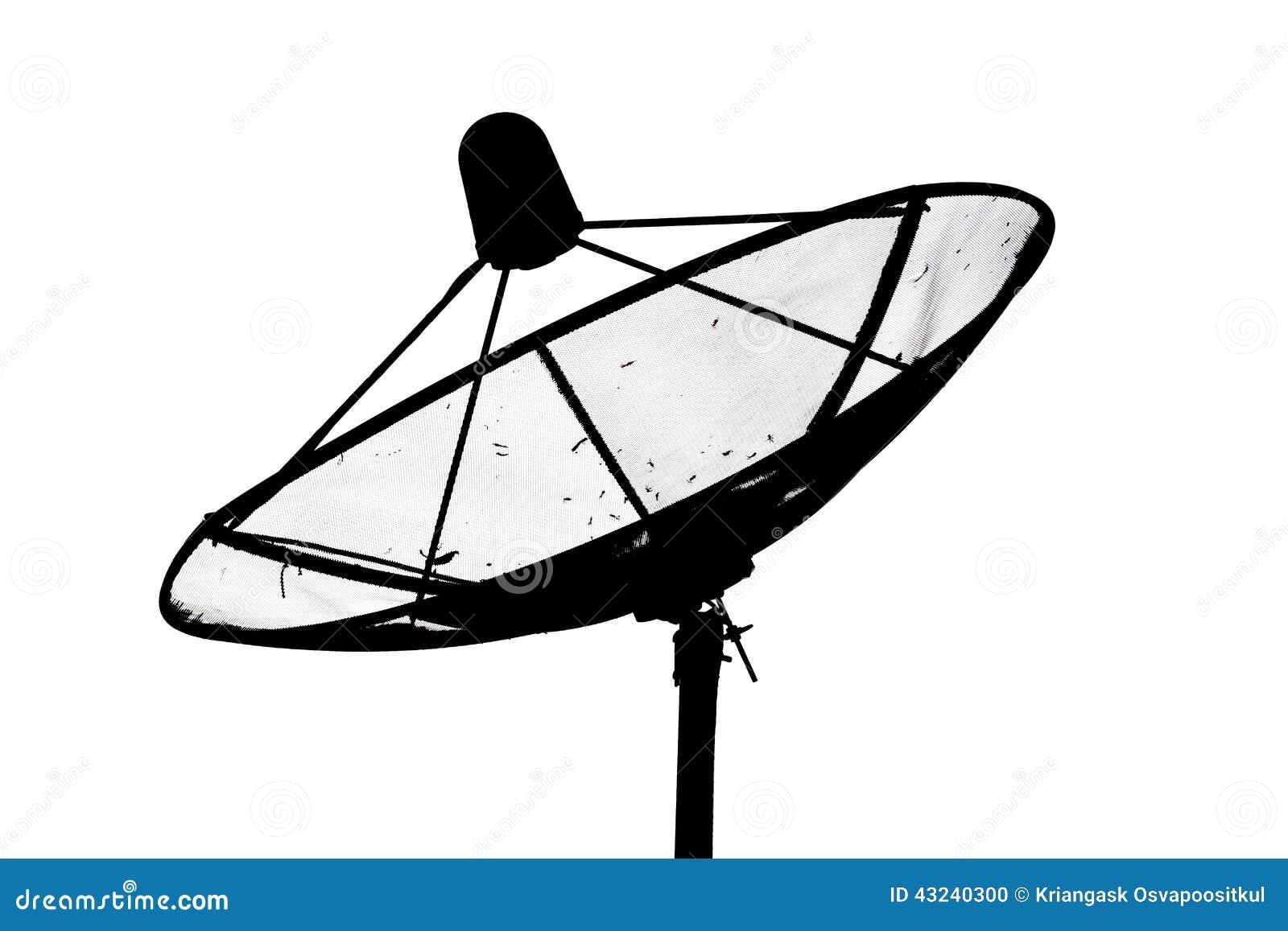 antenne parabolique photo stock image 43240300. Black Bedroom Furniture Sets. Home Design Ideas