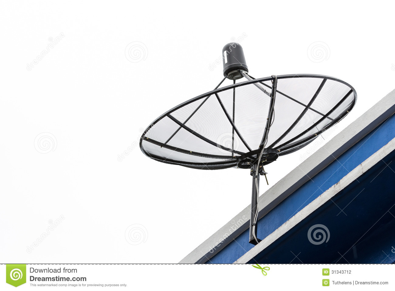 antenne parabolique d isolement sur un fond blanc stock photos - 32