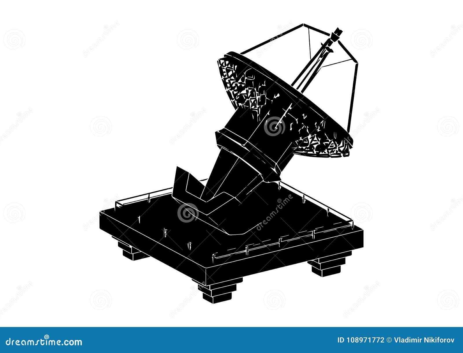Antenne parabolique noire