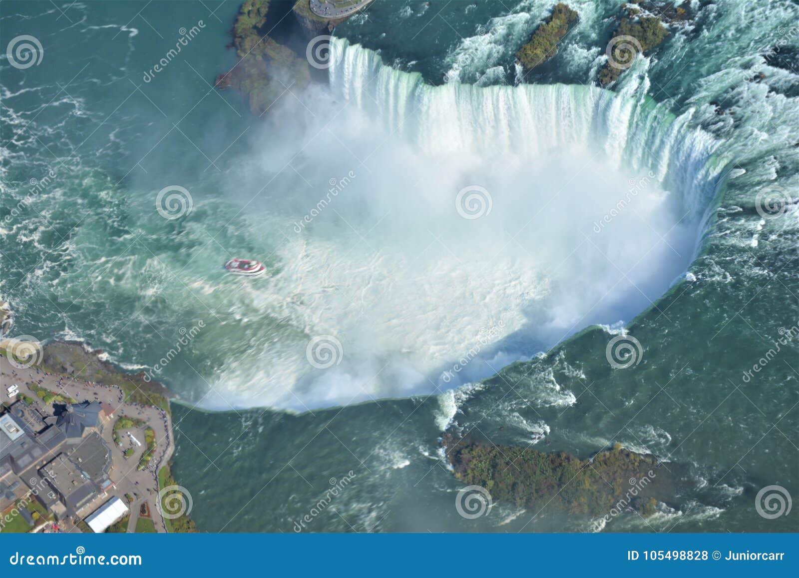 Antennskott av hästskofalls- Niagara Falls Ontario