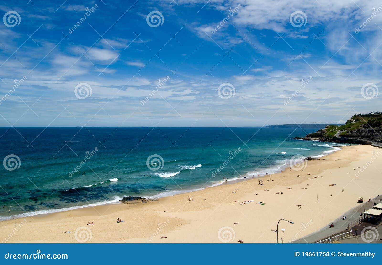 Anteny plażowy nowy Newcastle sou widok