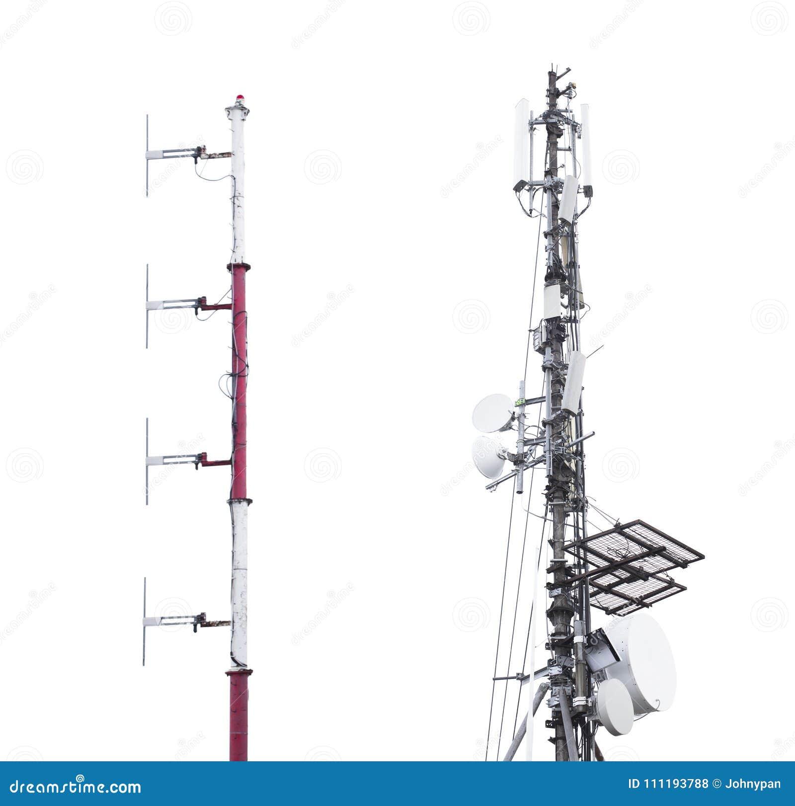 Anteny wierza dla sygnałowego przyjęcia