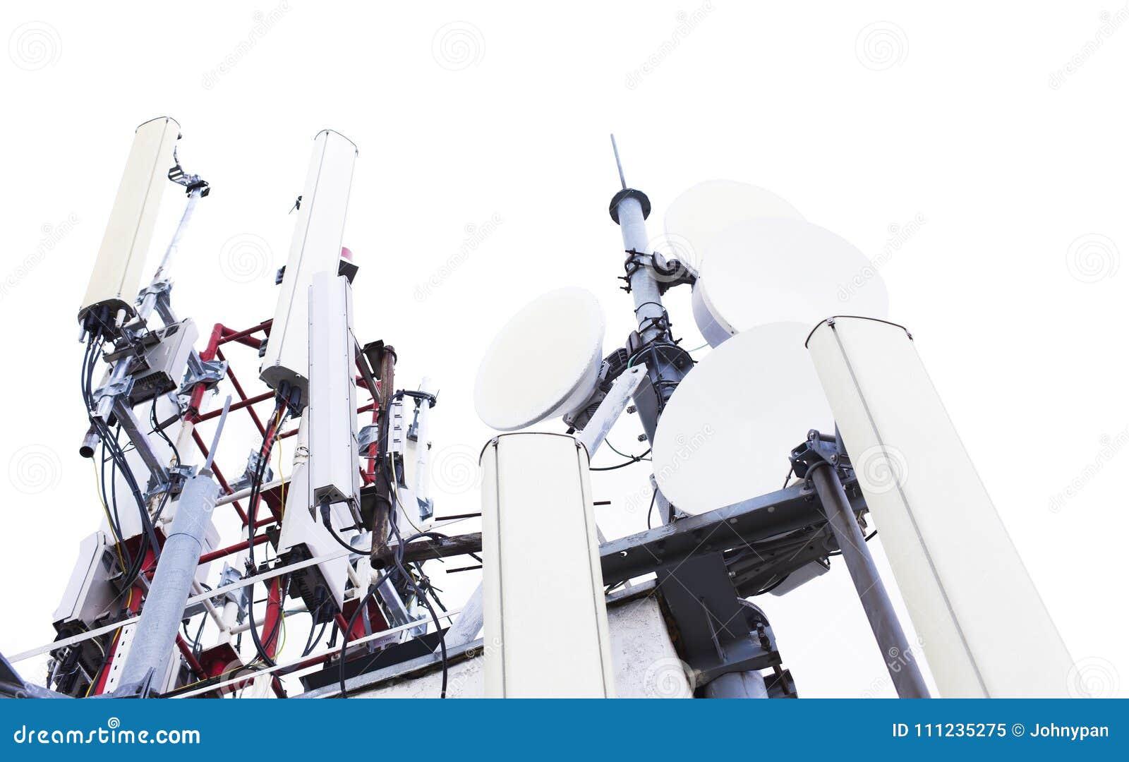 Anteny wierza dla transmisja sygnału