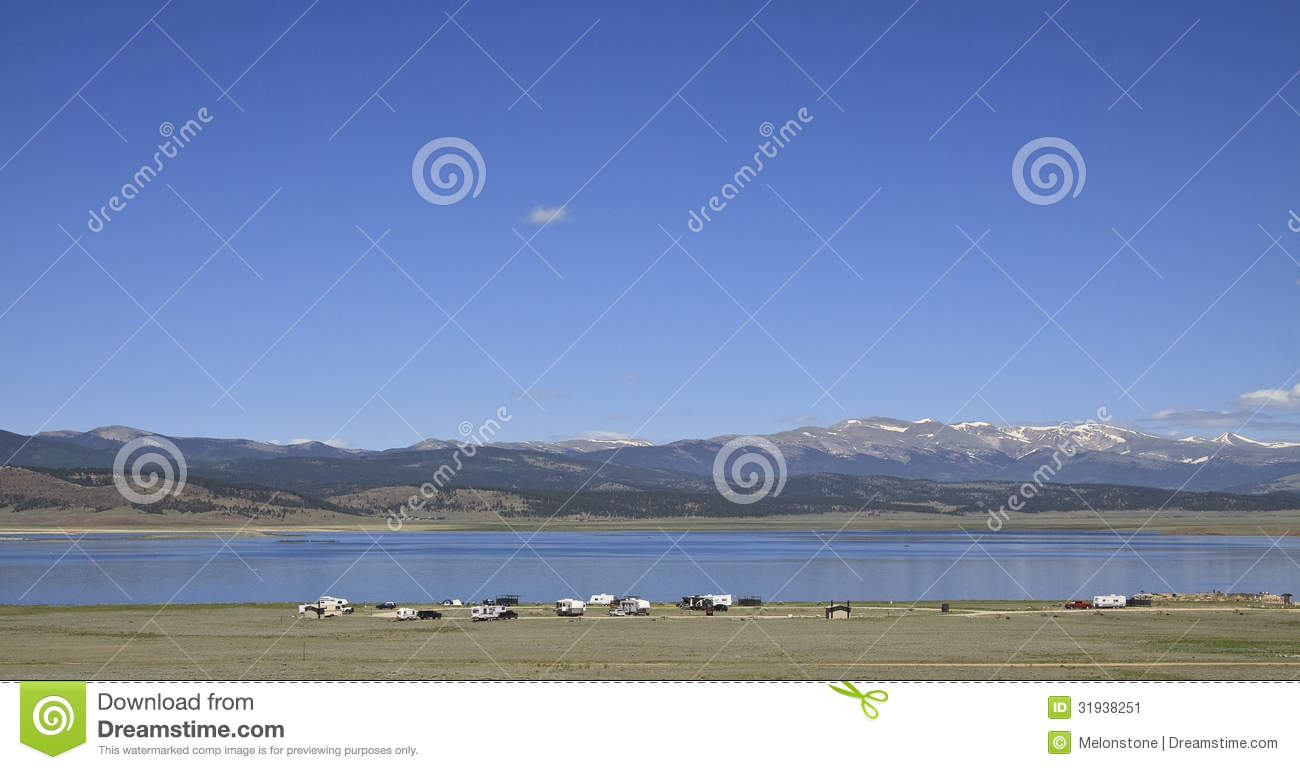 Antero reservoir campground stock image image 31938251 for Antero reservoir fishing