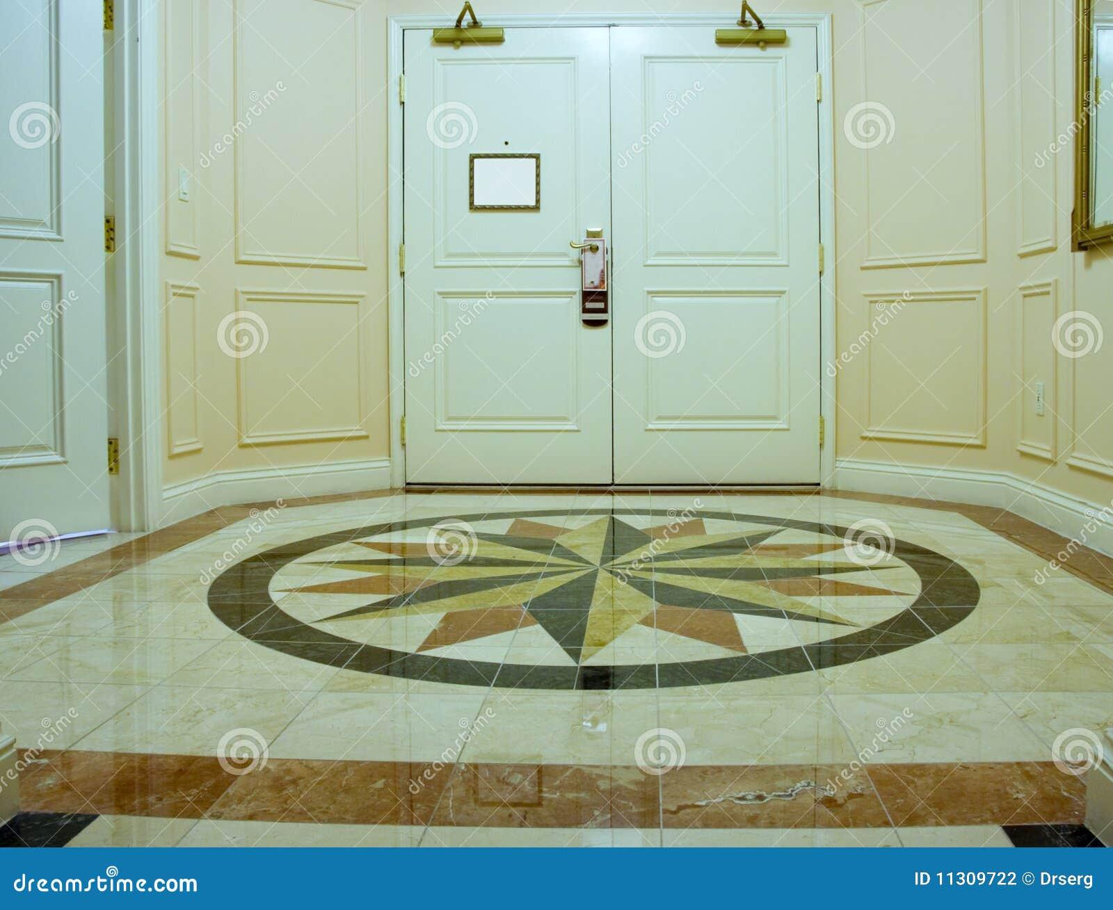 Antesala con el suelo del m rmol del mosaico fotograf a de for Composicion del marmol