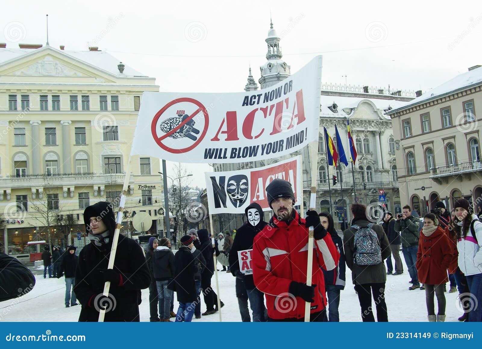 Anti-ACTA Rumänien