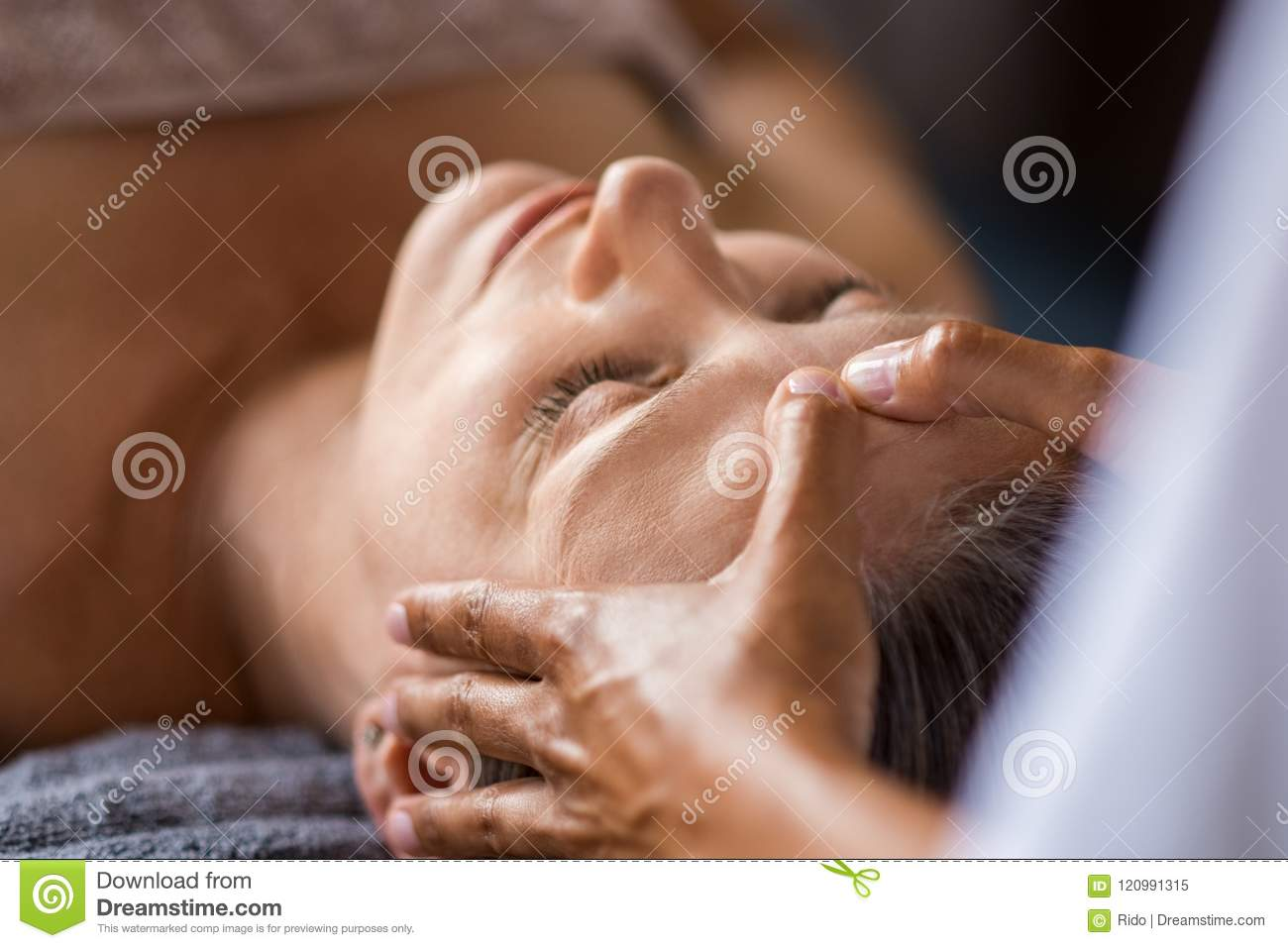 Anti Aging Facial Treatment Stock Image Image Of People