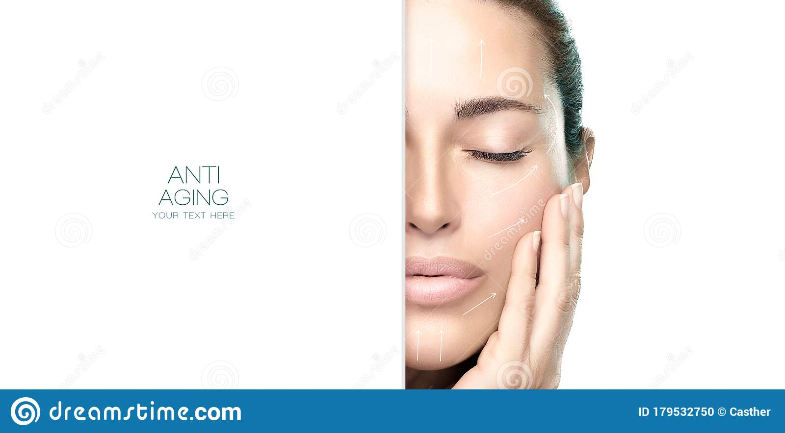 Surgery And Anti Aging Concept Beauty Face Spa Woman Cosmetology