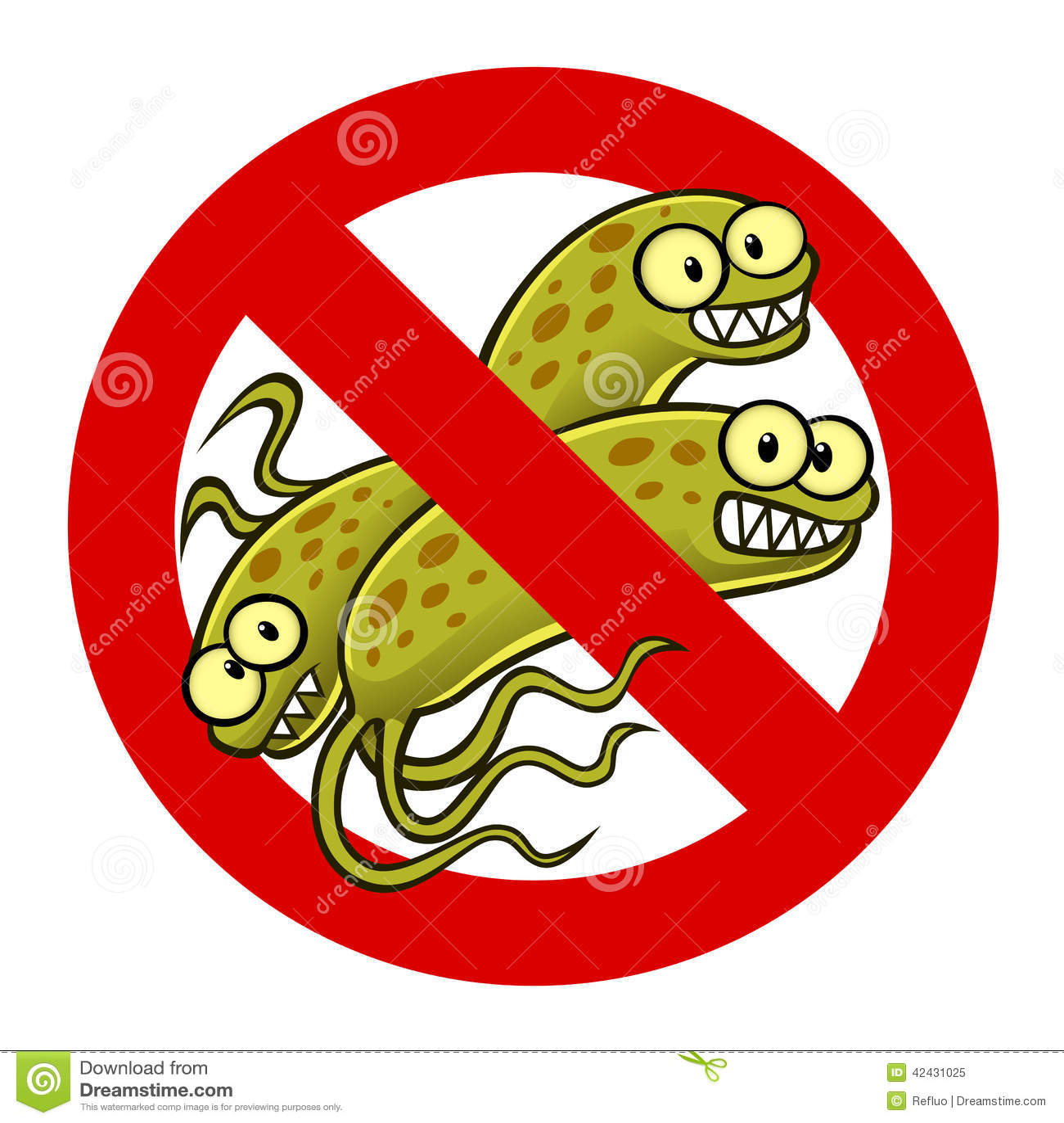 Anti Bacterium Sign Stock Vector Illustration Of Symbol